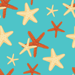 Starfish background pattern