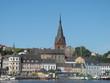 canvas print picture - Hafen und Marienkirche in Flensburg