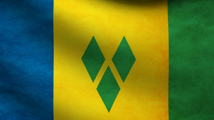 Saint Vicent and the grenadines flag.