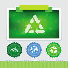 Vector design template with ecology icons