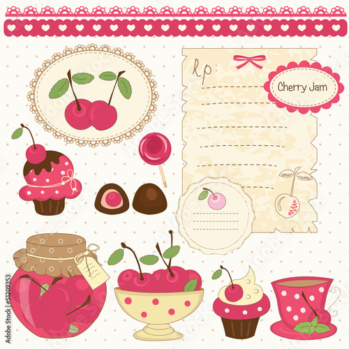 Cherry scrapbook set