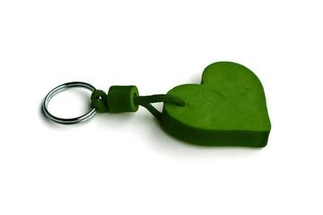 zeleno srce, privezak
