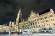 The scene of busy night life in Munich city center