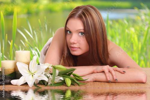 Spa Woman. Beauty portrait.
