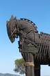 The copy of Troy wooden horse at Canakkale, Turkey