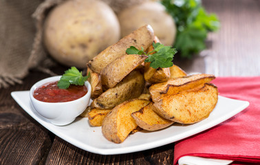 Portion of Potato Wedges