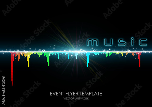 """event flyer template """"colorful equalizer"""""""