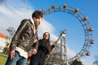 Young Couple at Amusement Park in Wien