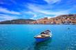 Wooden small boat in Porto Santo Stefano. Argentario, Italy