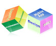 3d cube design , web development design