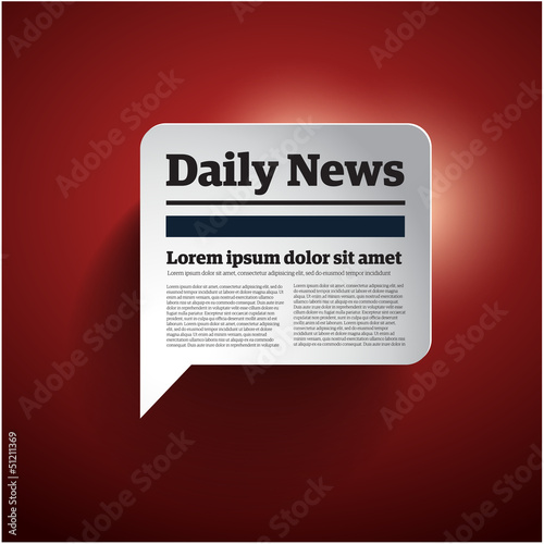 news button - vector illustration