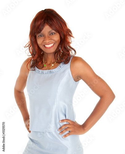 Beautiful Smiling African American Lady Posing