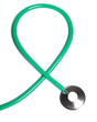 Green stethoscope isolated on white