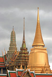 Colorful Domes of Imperial Palace of Thailand