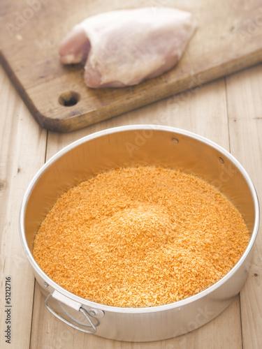 golden breadcrumbs