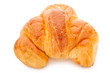 Croissant isolated on white background. Clipping path included