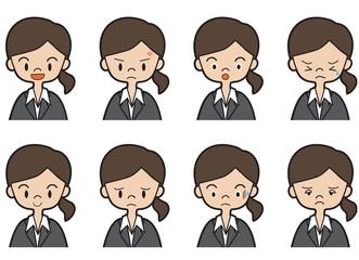 表情(スーツ姿の女性)