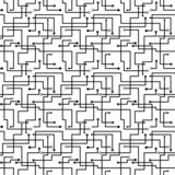 Vector seamless abstract pattern - circuit board scheme