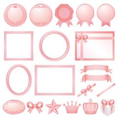 ピンク 広告 イラスト