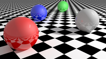 Balls chess floor