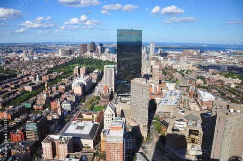 Boston John Hancock Tower and Back Bay Skyline, USA