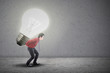 Asian businessman bright innovation