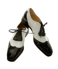 Oxford brogue black and white female shoes