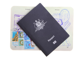 Two Australian passports