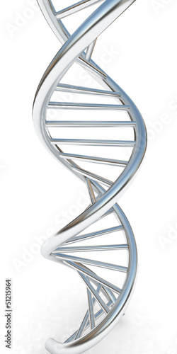 canvas print picture DNA structure model on white