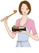 料理する女性 お弁当を作る