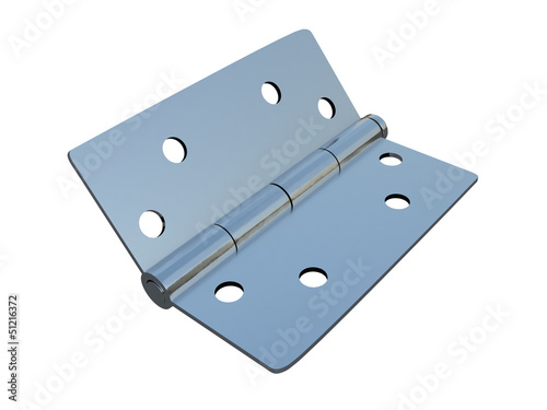 metal hinges on a white background