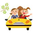 友達とドライブ