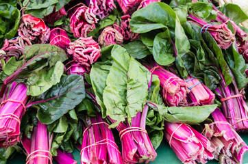 Red Swiss Chard at the market