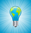 Light bulb earth icon
