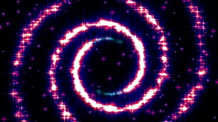 Glisten Glamour Shiny Spiral Particles animation