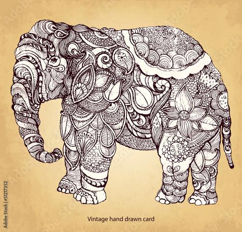 Fototapeta Decorative elephant
