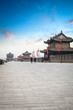 xian city wall at dusk