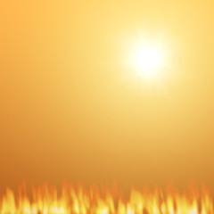 Sun setting Fire