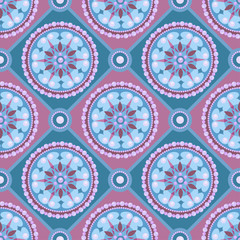 Pearl Seamless Pattern on pastel background