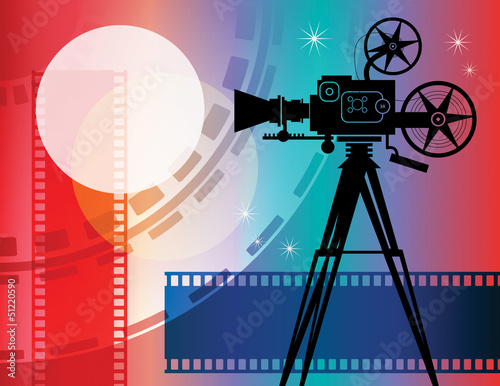 Abstract cinema background, vector illustration
