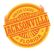 Grunge color stamp with text Greetings from Jacksonville, vector