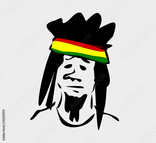 rastafarian man with dreadlocks