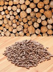 bois et granules de bois