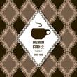 premium coffee vintage background