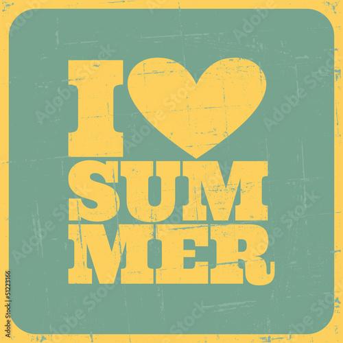 Vintage Summer Poster - 51223166