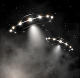 Fototapety UFO in fog