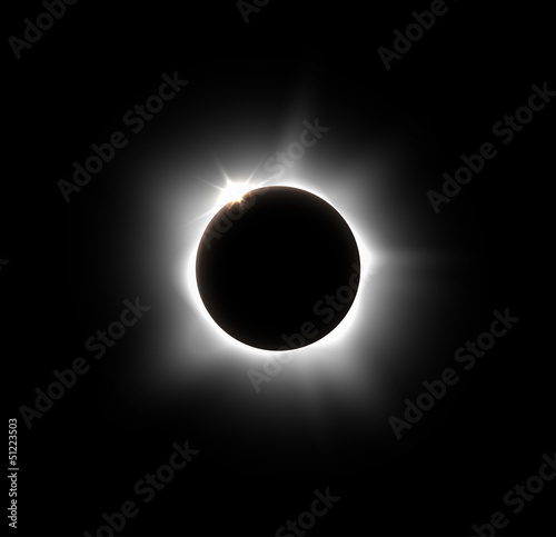 Fototapeta Solar eclipse