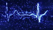 digital pixel EKG blue loopable background