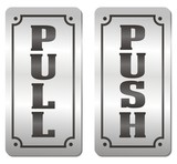 push and pull door signs