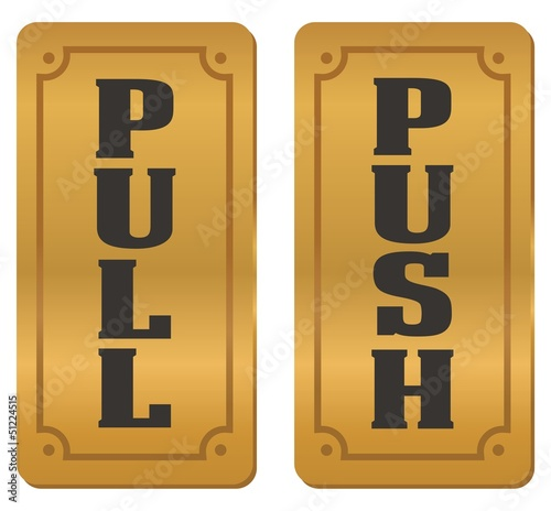 pull and push door signs